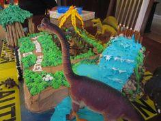 Detail of Jurassic Park Cake