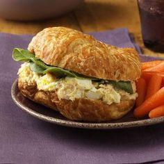 Smoked Salmon Egg Salad - I subbed the salmon with lump crab meat and the dill week with dried tarragon and it was delicious!