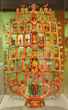 """https://flic.kr/p/w4mVoU   Mexican Pottery Puebla Flores   This towering """"tree of life"""" is the work of famed ceramic artist Francisco Flores from Izucar de Matamoros, Puebla, Mexico. Tucson Museum of Art"""