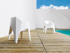 Outdoor chairs: Chair Voxel by @vondom