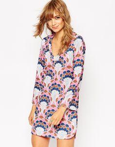 ASOS Tunic Dress in  Wallpaper Print