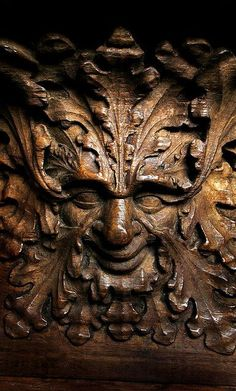 Green man. New College Chapel, Oxford; 14th-century misericord. Photo: Oxford Times