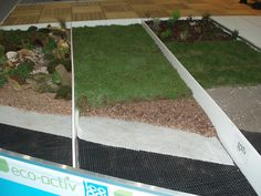 Green roof composition layers at eco build London 2011