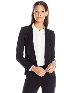 Calvin Klein Women's Fly Away Suit Jacket with Zipper Detail, Black, 8 Calvin Klein http://www.amazon.com/dp/B00QRJFI4Q/ref=cm_sw_r_pi_dp_rYx8vb1E9076Q