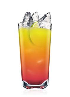 ABSOLUT Mandrin Madras (1 Part ABSOLUT MANDRIN  2 Parts Cranberry Juice  2 Parts Orange Juice  1 Wedge Lime)