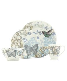CLOSEOUT! Lenox Dinnerware, Collage by Alice Drew Hummingbird Collection