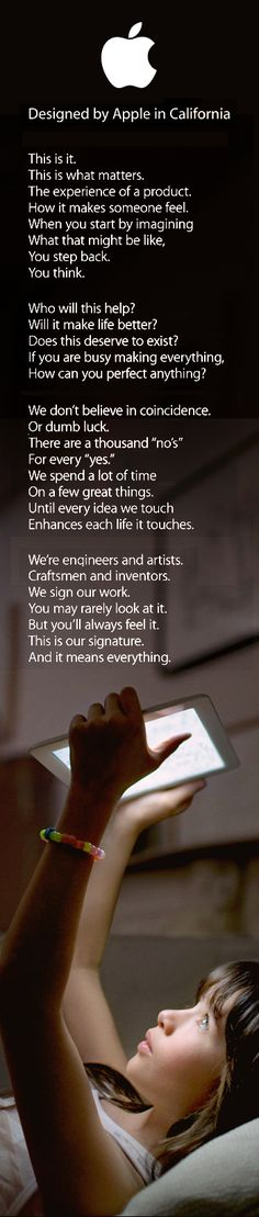 Apple - Designed by Apple in California - The post-Steve Jobs Apple brand manifesto