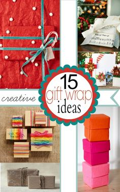 15 Creative Gift Wrap Ideas #diy #gift #christmas #holidays #gifts #thanksgiving