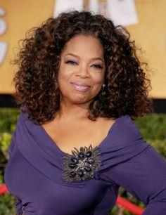 Oprah Winfrey's short hairstyle