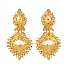 24 Carat Gold Earrings Tanishq - The Best Produck Of Earring Gold Mangalsutra Designs, Gold Earrings Designs, Gold Jewellery Design, Filigree Jewelry, Gold Designs, Earrings With Price, Buy Earrings, Round Earrings, Italian Gold Jewelry