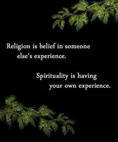 One way of looking at religion and spirituality...