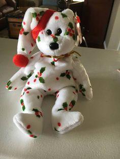 TY Beanie Baby - 1998 Holiday Bear - MINT! Beanie Bears, Beanie Babies, Ty Babies, Babies Stuff, Plush Animals, Cute Animals, Ty Bears, Build A Bear, Dinosaur Stuffed Animal