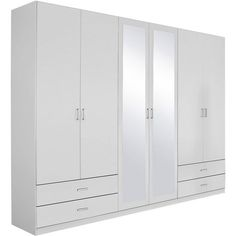 armoire penderie rauch 2 portes coulissantes avec miroir. Black Bedroom Furniture Sets. Home Design Ideas