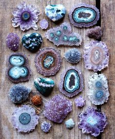 Natural amethyst flowers (Stalactite) Photo: Citrine Vail Designs. Amazing Geologist