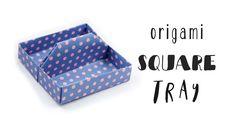 Origami Square Tray Tutorial ♥︎ Toolbox ♥︎ Box ♥︎ DIY Desk Organiser ♥︎ - YouTube