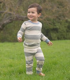Toddler Rugby Stripe Tee and Pant PJ Set - Burts Bees Baby