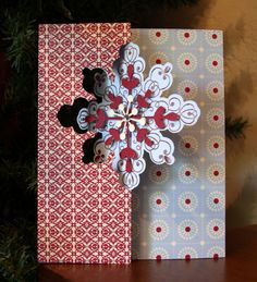 This is made from the Stampin Up Snowflakes thinlit die.  I posted this card and discussion on Stampin Connection back when die first came out.