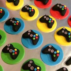 Xbox cupcake toppers A personal favorite from my Etsy shop https://www.etsy.com/listing/265886664/12-fondant-game-control-cupcake-toppers