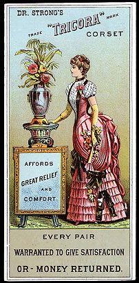 """Victorian Trade Card """"Tricora Corset"""""""