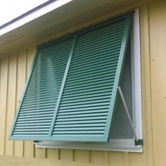Exterior hurricane shutters for windows and openings. Aluminum bahama shutters online that are made to order to suit your needs. Cottage Shutters, Window Shutters Exterior, House Shutters, Interior Shutters, Modern Shutters, Pallet Shutters, Exterior Blinds, Custom Shutters, Home Decor Ideas