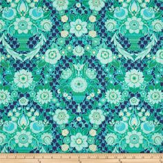 Amy Butler Violette Garden Fete Midnight from @fabricdotcom  Designed by Amy Butler for Westminster, this cotton print fabric is perfect for quilting, apparel and home decor accents. Colors include light blue, mint, sky, green, navy and turquoise.