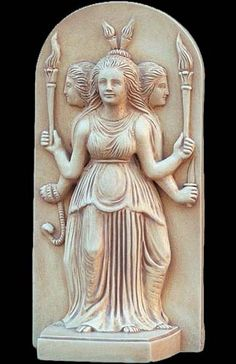 Greek Art - Greco-Roman goddess, or the 'three-faced goddess', which represents the aspects of the Crone (Goddess of Witchcraft and the Unde...