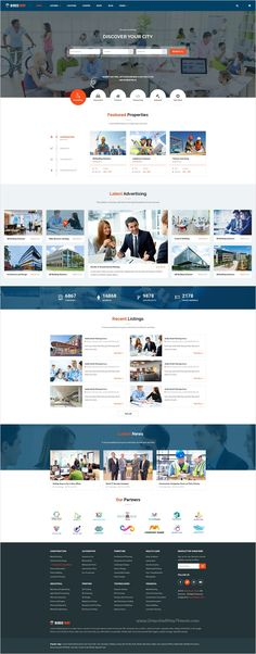 Directory is a modern & creative design #directory #listing #Photoshop #template for hotel, restaurant, real estate company, education website with 5 unique homepage layouts and 23 organized PSD pages download now➩ https://themeforest.net/item/directory-directory-and-listings-psd-template/17499533?ref=Datasata