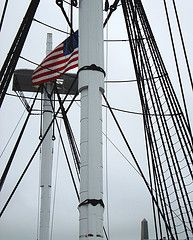 US flag on the USS Constitution