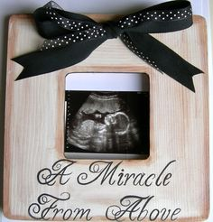 Custom Painted Boutique Ultrasound Sonogram Baby Keepsake Picture Frame Choose Colors on Etsy, $35.00