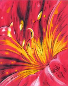 oil pastel daylily flower Oil Pastel Art, Oil Pastels, Art Pictures, Art Images, Ww1 Art, Kids Art Class, Abstract Flowers, Pastel Flowers, Day Lilies
