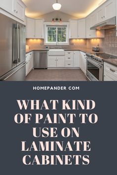 If you are looking forward to kitchen cabinets cleaning and restoration of your kitchen to keep shining like new, painting on a regular basis has no alternatives. In this regard,you have to deal with different parts of the kitchen made of different materials. And no need to mention that, painting these different materials will be different. So, what kind of paint to use on laminate cabinets Well, we have written this entire post to give you a firm idea on this. #cabinet #cleaning #tips #kitchen Laminate Cabinets, Clean Kitchen Cabinets, Home Decor Paintings, Cool Paintings, Best Cabinet Paint, Painting Cabinets, Painting Tips, Cleaning Hacks, Restoration