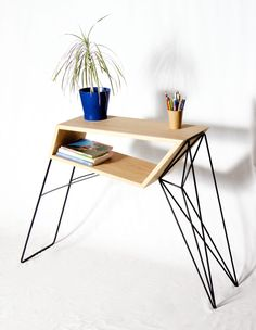 #Graphical & #Different. Have a look on Oak & Metal Side Table by Antoine G Artisan Designer: