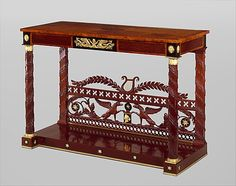 """1810-1815 American (Pennsylvania) Pier table at the Metropolitan Museum of Art, New York - From the curators' comments: """"This table combines French and English features to form a highly successful American type."""""""