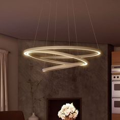 Vonn Lighting VMC32500AL Tania Trio 32-inches LED Adjustable Hanging Light Modern Silver Circular Chandelier Lighting - Free Shipping Today - Overstock.com - 18571448 - Mobile