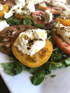 Heirloom Shame-ato Burrata Caprese Salad- Game of Calzones-- Game of Unknowns