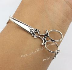 Hairstylist jewelry Antique Silver scissor by vividiy on Etsy, $1.99