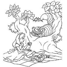 """Remember """"Alice in Wonderland"""" one of the most popular stories among kids? Now bring those memories alive with these free Alice in wonderland coloring pages"""