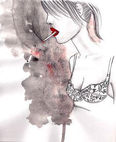 Smokink Lady // ILLUSTRATION/FASHION - What She Does