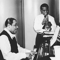 "Duke Ellington and Louis ""Satchmo""  Armstrong."