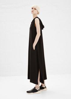 Y's by Yohji Yamamoto Hooded Dress (Black)