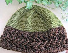 Designs by KN, Ripple Band Hat - free crochet pattern  http://www.piece-by-piece.net/Crochet/Ripple-Band_Hat.htm