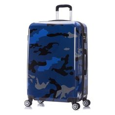 Blue Rock Marble Traveler Lightweight Rotating Luggage Cover Can Carry With You Can Expand Travel Bag Trolley Rolling Luggage Cover