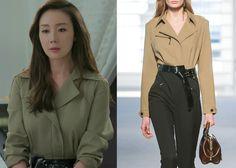 "Choi Ji-Woo 최지우 in ""Temptation"" Episode 3. Louis Vuitton Fall/Winter 2014-2015 Shirt #Kdrama #Temptation 유혹 #ChoiJiWoo"