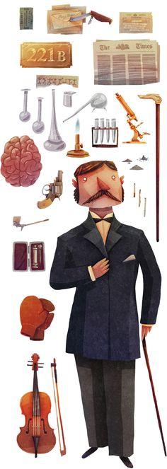 Las Herramientas de un detective consultor - camiseta disponible por David Fernández Huerta, a través de Behance