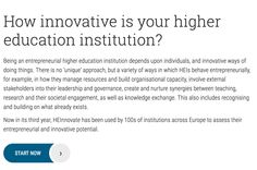 Self-assessment tool for HE institutions by OECD and European Comission https://heinnovate.eu/