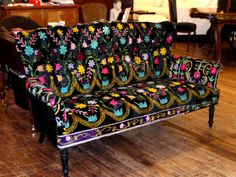 Fab floral /ethnic upholstered sofa