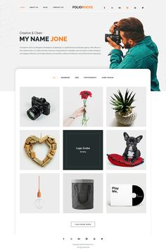 Foliorocks is a clean, art, modern & creative 7 PSD templates for minimal portfolios, agencies, model and many more. The template is designed with a Photoshop Web, Web Design Agency, Wordpress Theme Design, Photography Logos, Photography Portfolio, Web Design Inspiration, Psd Templates, Cool Websites, Page Design