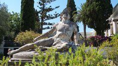 Achilles in Kerkyra Corfu, Achilles, Athens, Garden Sculpture, Greece, Statue, Outdoor Decor, Travel, Greece Country