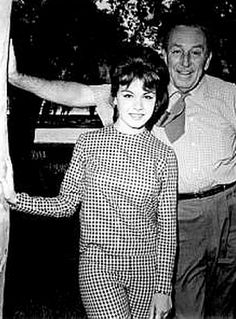 Walt Disney and Annette Funicello