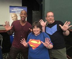 """Us with Mehcad Brooks., a.k.a. James Olsen, a.k.a. The Guardian from """"Supergirl"""". Superman Celebration 2016, Metropolis, Illinois."""